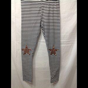 Girl's size 14 SO striped leggings w/ stars